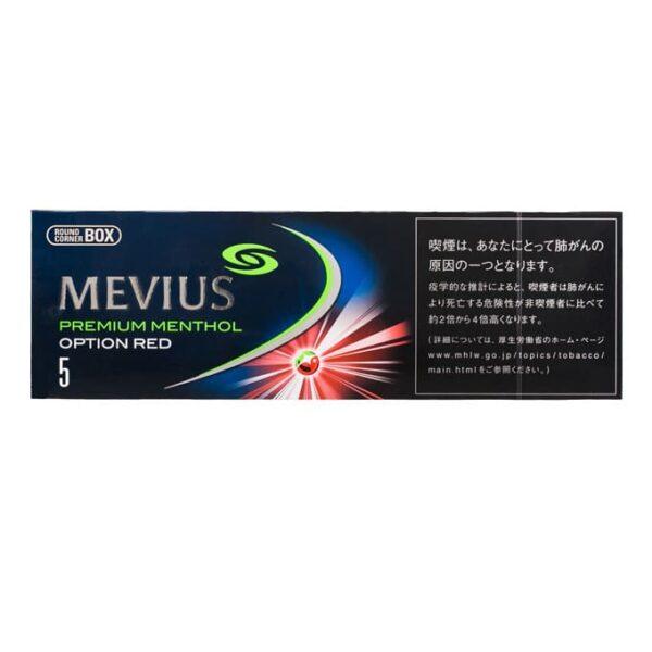 บุหรี่ MEVIUS PREMIUM MENTHOL OPTION RED 5