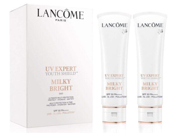 Lancome UV EXPERT MILKY BRIGHT SPF50 PA4++++ 50ML x 2