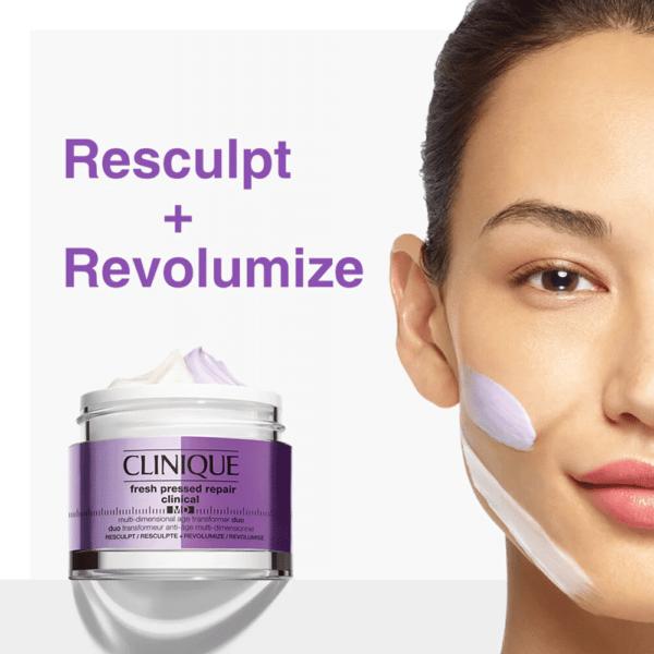 Clinique Fresh Pressed™ Duo Resculpt + Revolumize Clinical MD Multi-Dimensional Age Transformer ขนาด 50 มล.