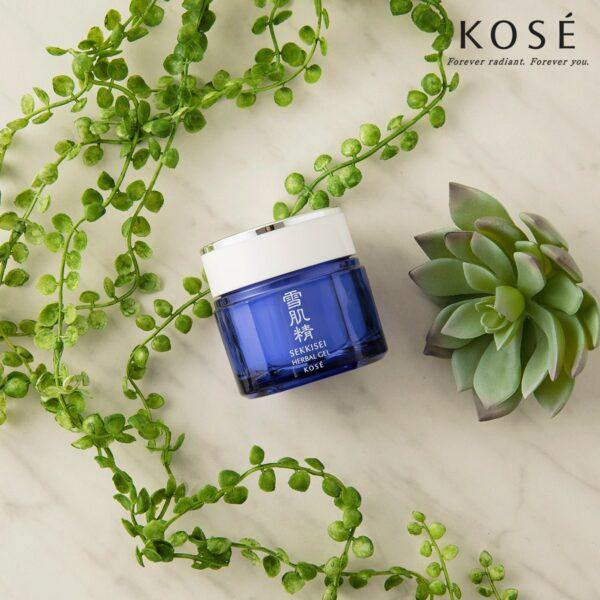 KOSÉ โคเซ่ มาส์กบำรุงผิวเนื้อเจล Sekkisei Herbal Gel (80g (1)